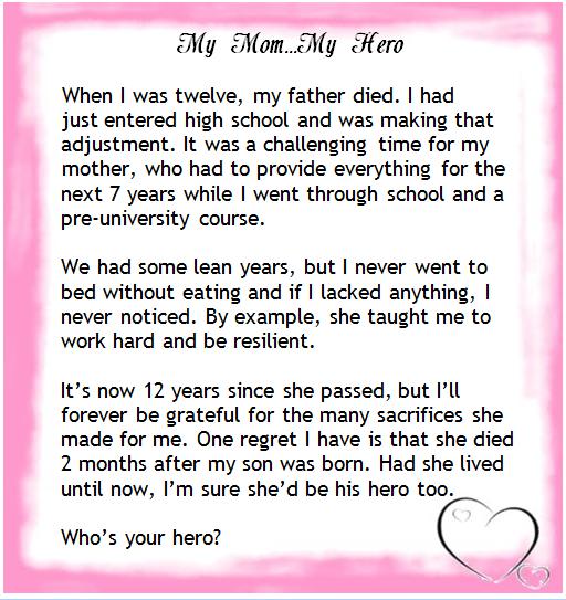 My hero essay examples