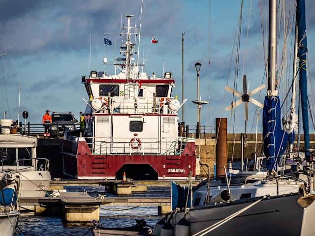 Photo of MV Achiever at Maryport Marina