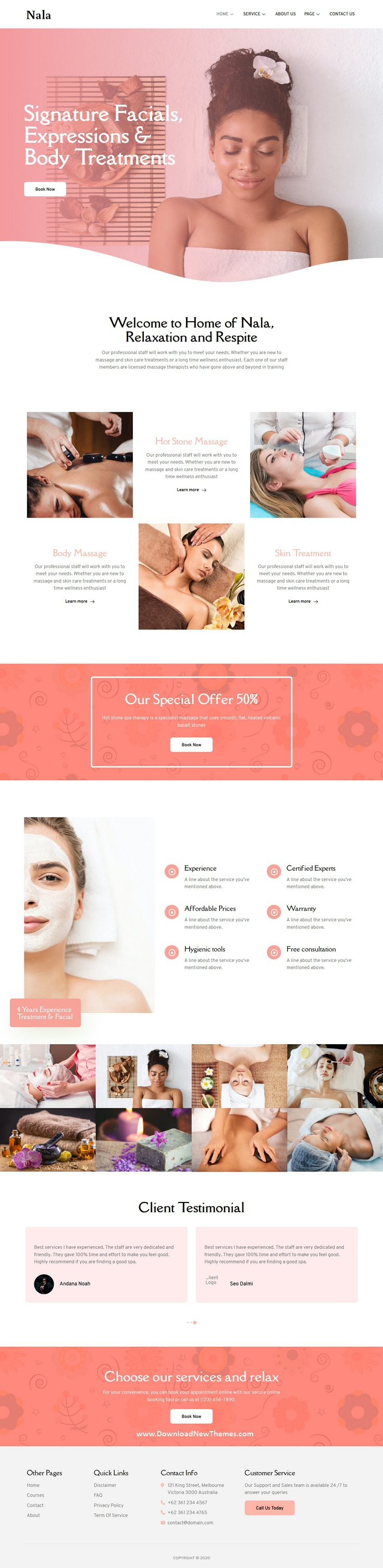 Beauty and Spa Elementor Template Kit