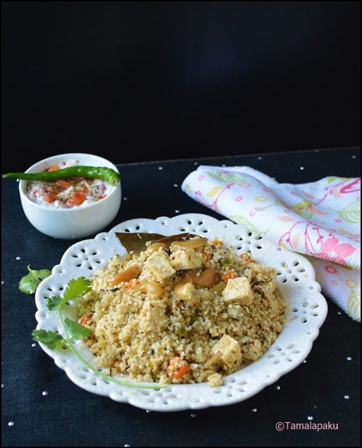 Little Millet Methi Paneer Pulao