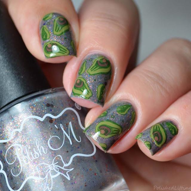 avocado nail art