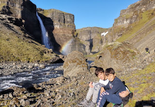 Cascada Háifoss y cascada Granni. Islandia, Iceland.