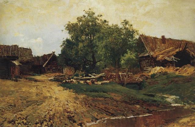Исаак Ильич Левитан - Саввинская слобода под Звенигородом (летний вид). 1884
