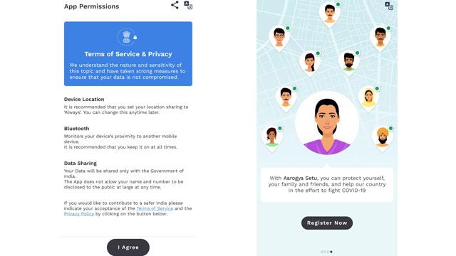 AarogyaSetu App bhasha chunaav