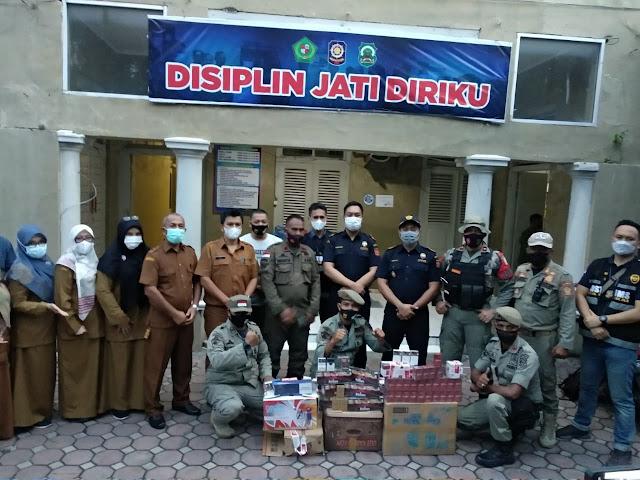 Bersama Satpol PP, Bea Cukai Aceh Sita Peredaran Rokok Ilegal Di Pidie