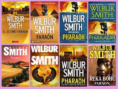 portadas de la novela histórica de fantasía El último faraón, de Wilbur Smith