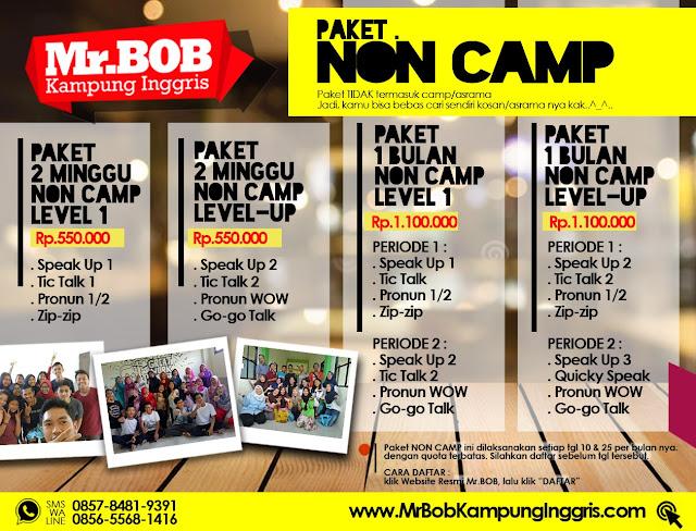 Paket non-camp Mr.BOB, paket tanpa camp kampung inggris, kampung inggris, kampung inggris pare, kampung inggris kediri