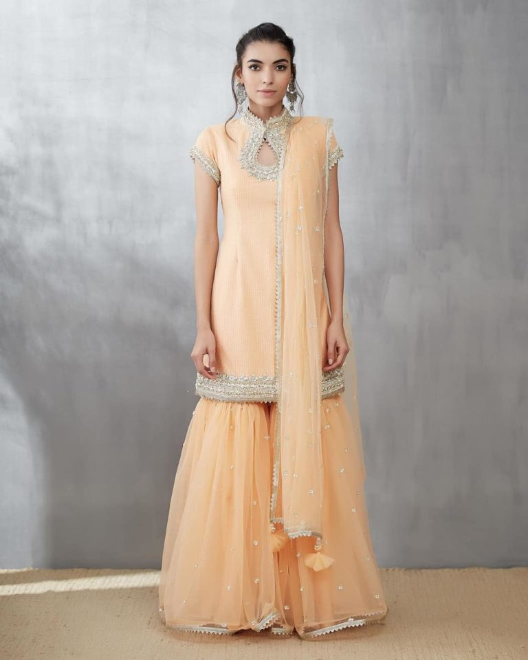 Turn It Up In A Simple Sharara Dress For Stylish Look