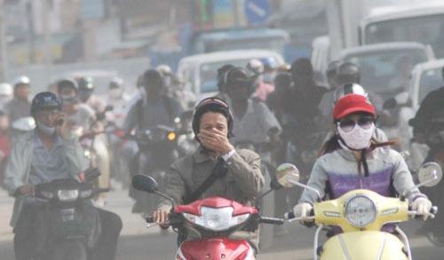 xe tải gây ô nhiễm môi trường