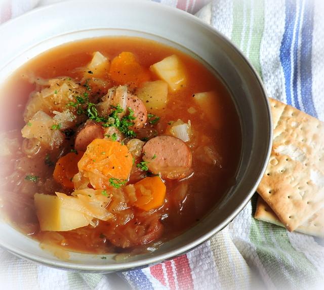 Crockpot Sauerkraut Soup