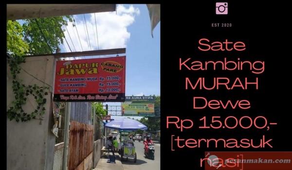 DAPUR JAWA KEDIRI, Warung Sate Kambing Paling Murah dan Viral di Kediri