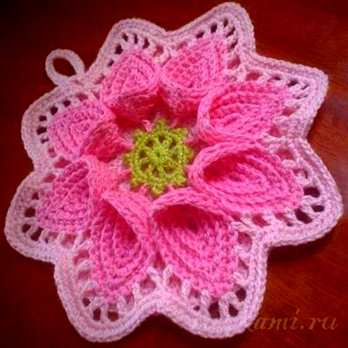 Beautiful Crochet Potholder - Free Diagram