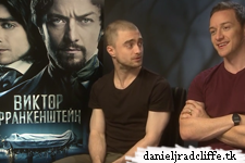 Updated: Victor Frankenstein press junket interviews (Russia)