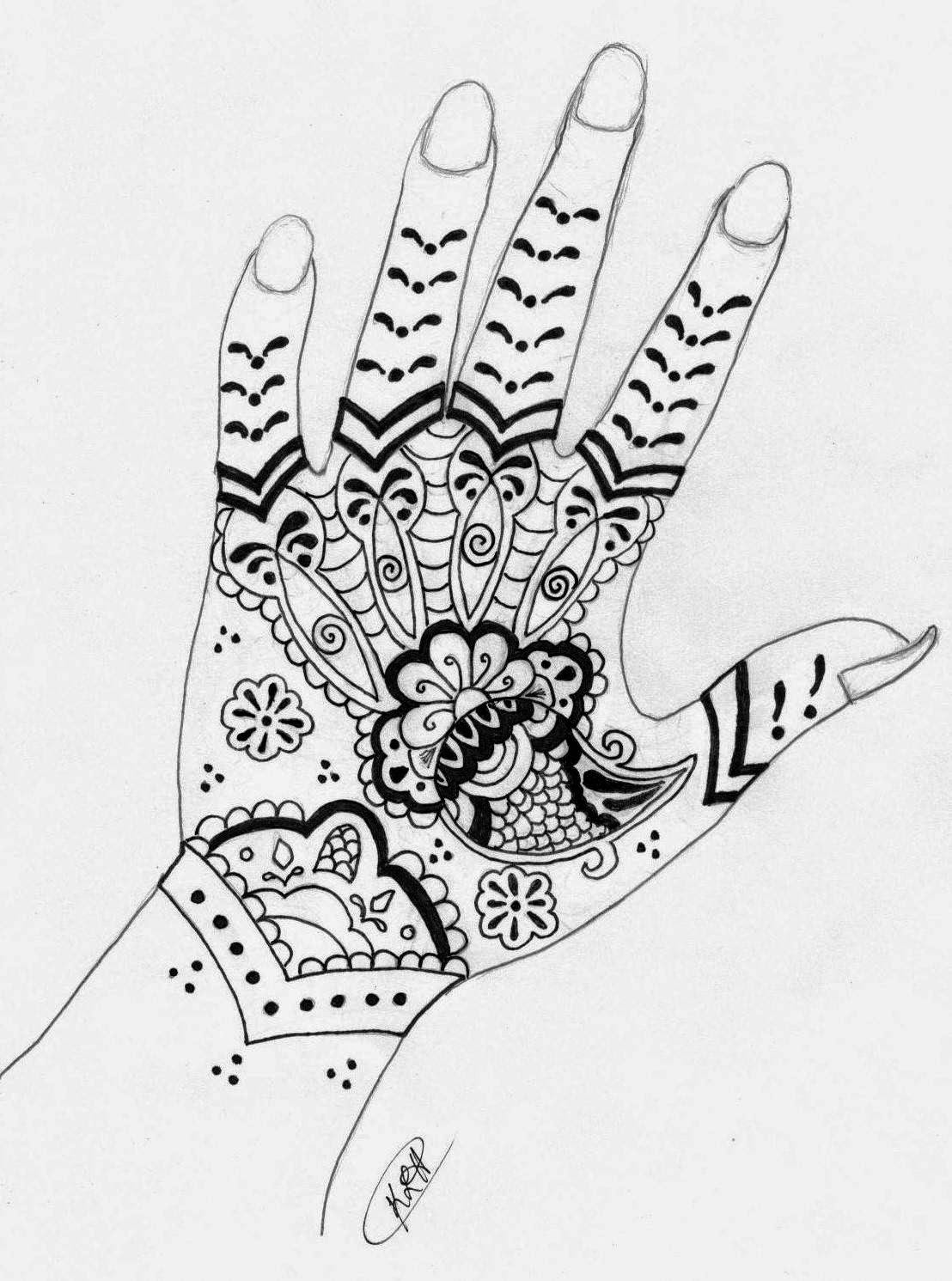66 Images For Paper Drawing Henna Design ~ All What Veiled
