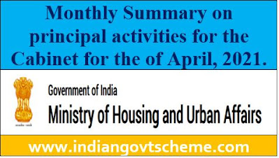 Monthly Summary on principal activities