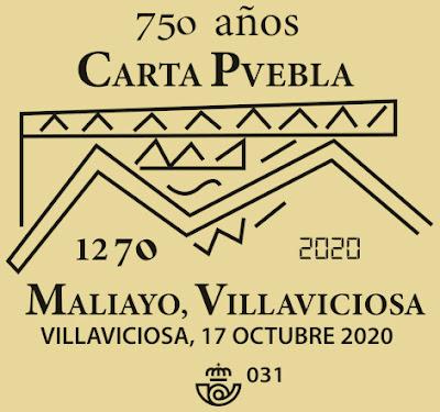 matasellos, filatelia, Carta Puebla, Villaviciosa