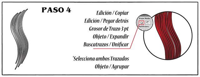 Tutorial en español de Adobe Illustrator para Crear Cabello Estilizado Paso 04