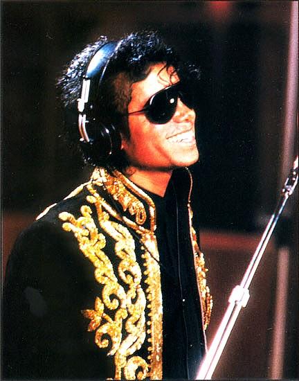 "Michael Jackson nas gravações do single ""We Are the World"""