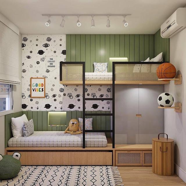 Desain Mezzanine untuk Kamar Tidur Kecil