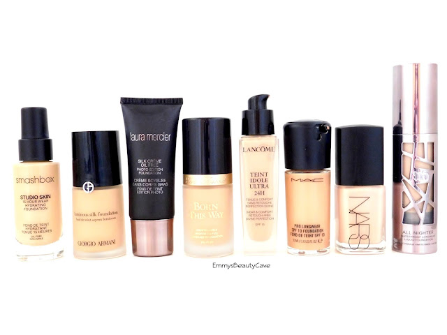 High End Foundations Comparison, High End Full Coverage Foundations
