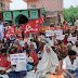 मधेपुरा में भाकपा के बैनर तले प्रवासी व मनरेगा मजदूरों का विशाल धरना प्रदर्शन