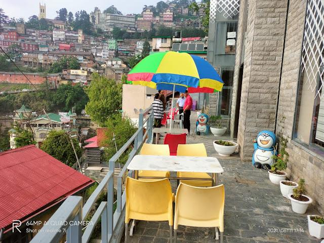 Outside Sitting in Bombay Bites -Shimla