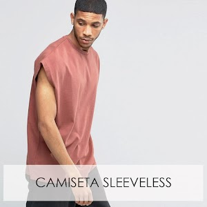O estilo da camiseta sleeveless.