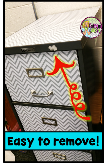 Contact Paper project for filing cabinets