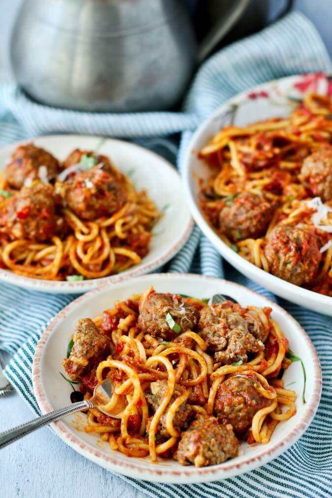 Multi cooker Spaghetti and Meatballs