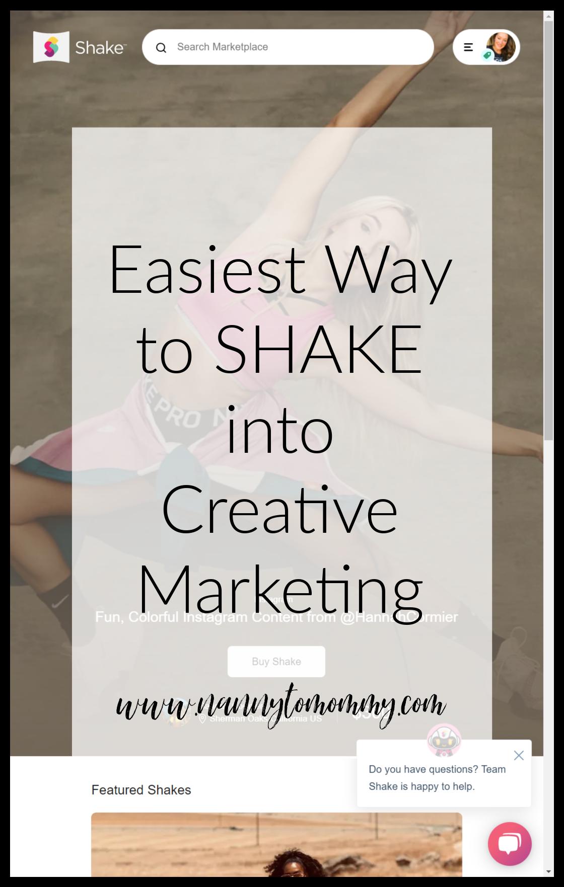 Shake into Creative Marketing