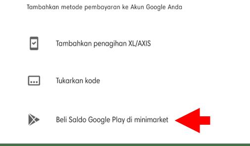 Beli Saldo Google Play di Minimarket