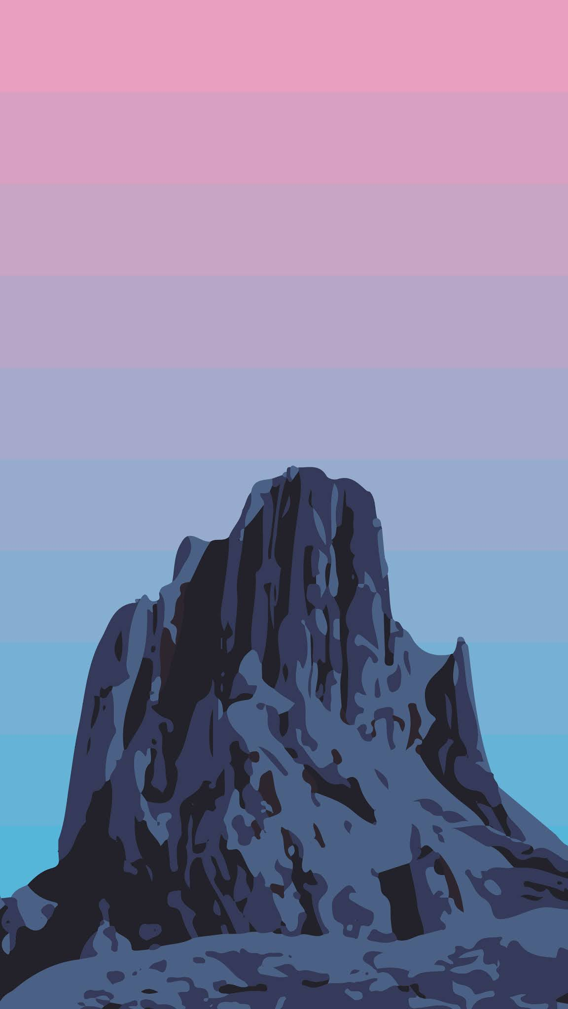 Beautiful minimalist mountain aesthetic wallpaper