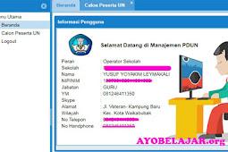 Cara Unduh File Dz Calon Peserta UN Pada Portal Manejemen PDUN Jenjang SD dan SMP