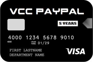 Jual VCC Visa Untuk Verifikasi PayPal 5 TAHUN (Proses Cepat / Instan)