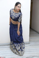 Ruchi Pandey in Blue Embrodiery Choli ghagra at Idem Deyyam music launch ~ Celebrities Exclusive Galleries 034.JPG