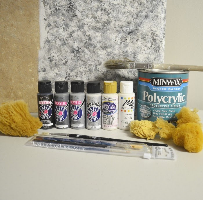 Laminate Sample and paint supplies used