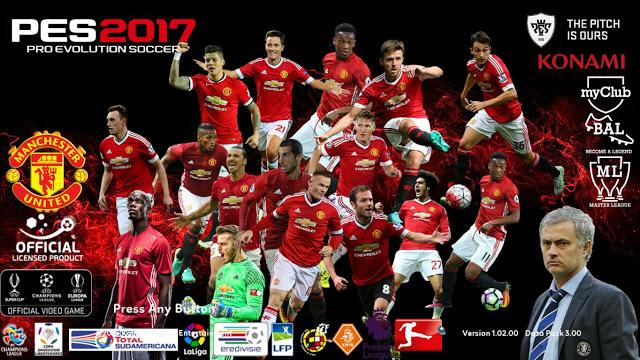 PES 2017 Mosaic & Startscreen Manchester United dari BVSTAMILD