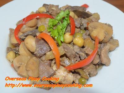 Igado with Pineapple and Mushroom - Recipe