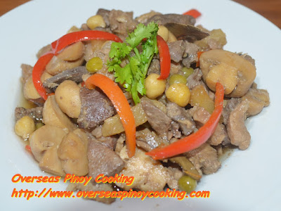 Igado with Pineapple and Mushroom Recipe