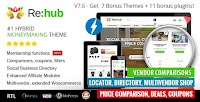 REHub v7.6.9.3 – Price Comparison, Multi Vendor Store WordPress Theme Download