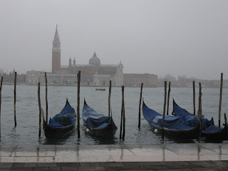 A view of the Venetian lagoon is worth paying a little extra even in misty November
