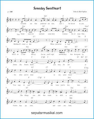 Someday Sweetheart 1 chords jazz standar