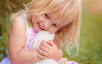 so sweet girl with bunny pictures