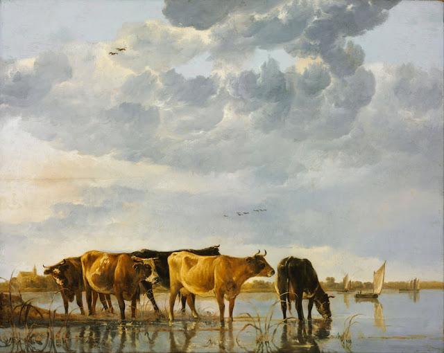 Альберт Кёйп - Коровы на реке. 1650-55