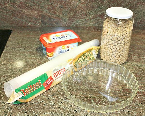 Ingredientes para hornear masa quebrada o brisa