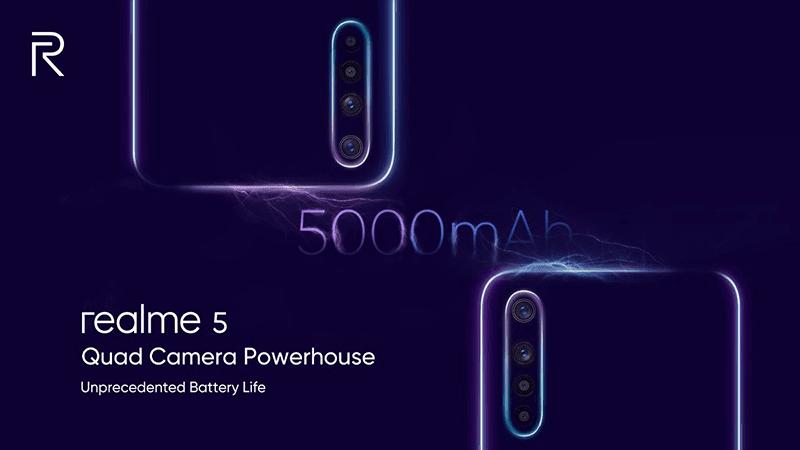Realme 5, 5 Pro key specs revealed on Twitter
