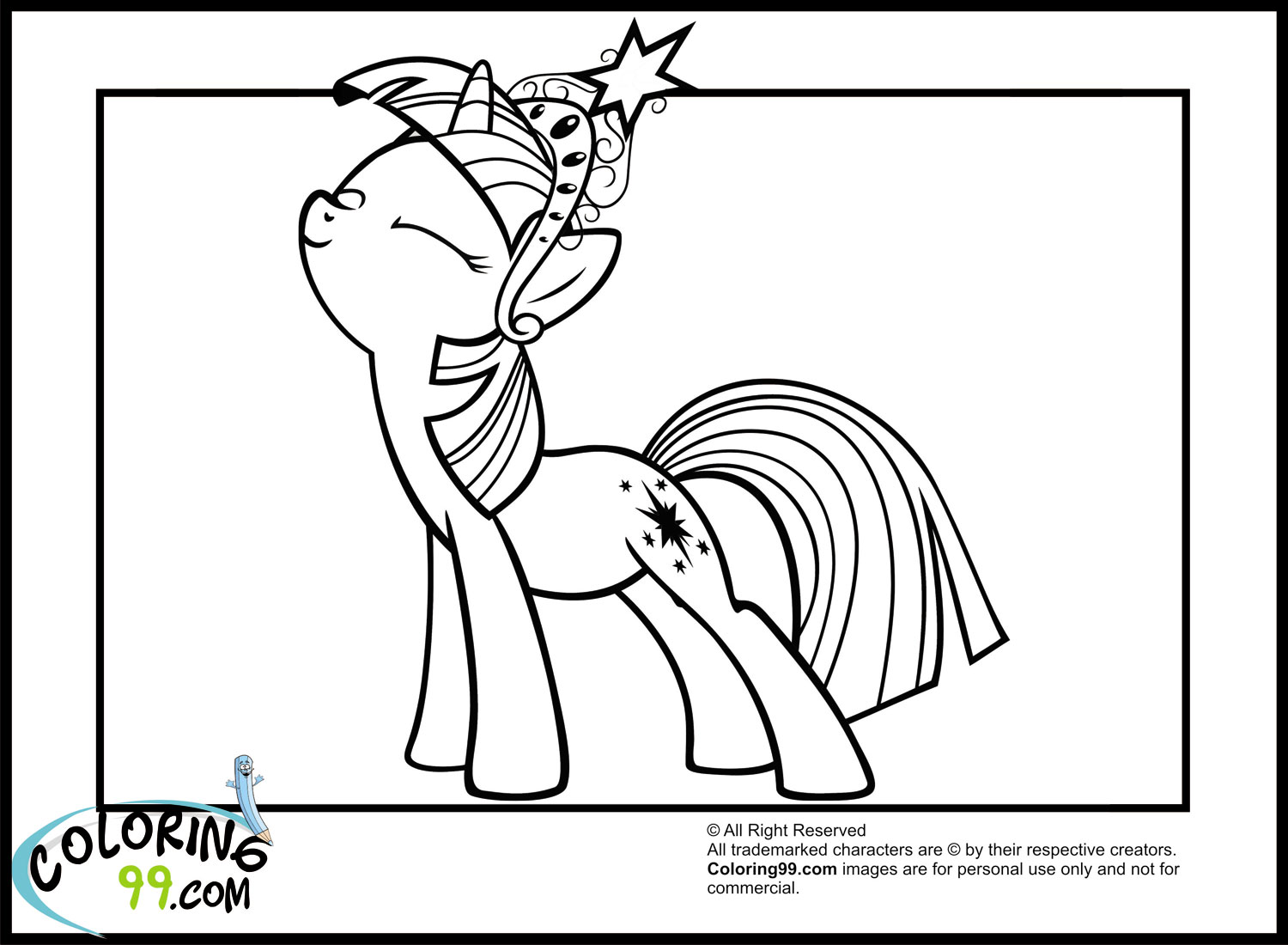 My little pony twilight sparkle coloring pages team colors for My little pony twilight sparkle coloring page