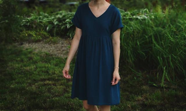 sukienka z bawełnianej krepy