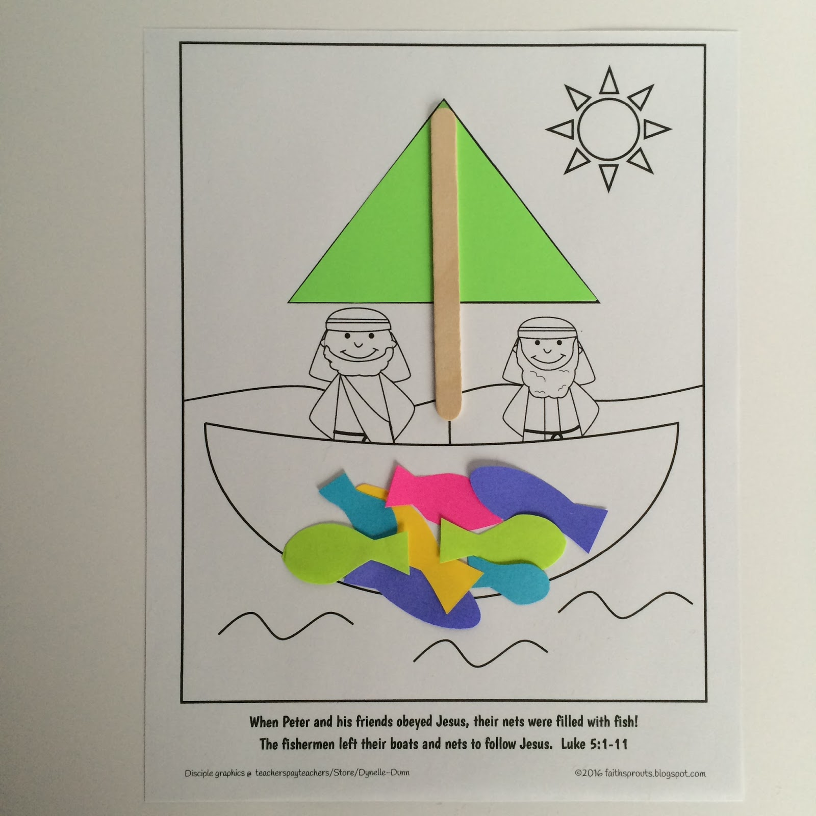 Faith Sprouts Fishermen Follow Jesus
