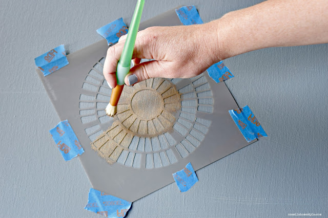 How to create your own DIY stenciled wall art - One Mile Home Style